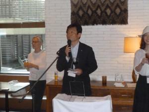 大阪から駆けつけて下さった松村康隆さん(35期)にご挨拶をいただきました。